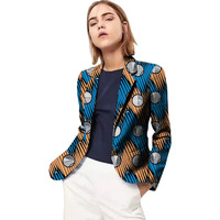 African Fashion blazers women exquisite design dashiki suit jacket for ladies business coats Ankara print Africa outwear
