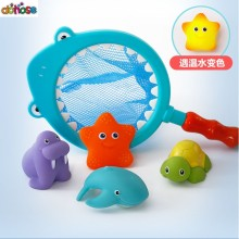 1 Sets Fishing Toys Network Bag Pick up Duck & Bee & Fish Kids Toy Bath toy Swimming Classes Summer Play Water Bath Toy(China)