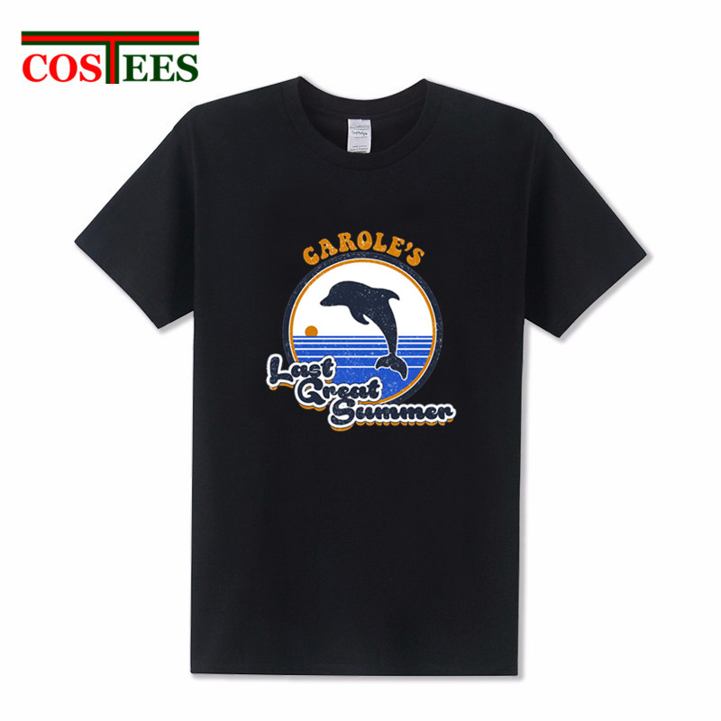 Camisetas Vintage Caroles Last Great Summer T-shirt hombres Kawaii dophin T shirt men cute animal printed Retro Tee shirt homme