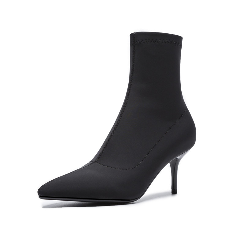 Altos Sexy Las Para Estrecha Señoras Otoño Zapatos 2018 Mujer Thin Negro Botas Punta green Elásticas Asumer Moda Baile Tacones Mujeres Szxpqtqfw