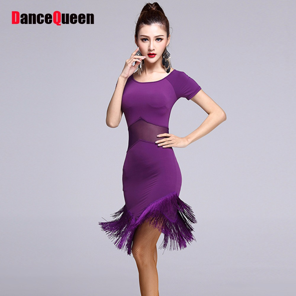 2017 tassels dance latin square dance costume women latina dress