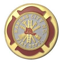Вся поставки золотое покрытие город Канзас пожарный отдел наградная монета/медаль 1333
