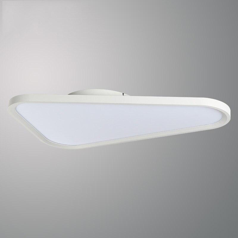 Белый треугольный светодиодный потолочный светильник, Современная тонкая панель, потолочный светильник для спальни, офиса, столовой, потолочного освещения