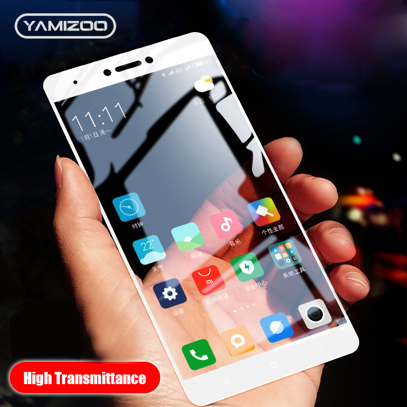 YAMIZOO Tempered Glass For Xiaomi Redmi 4x Note 4 Glass On Screen Protector Film Full Cover For Redmi 4x Note 4 Protective Glass
