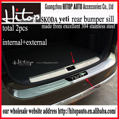 rear trunk cover for YETI/yeti bumper protector /plate/door sill,304 stainless steel,interior+exterior,low profit 2010-2016
