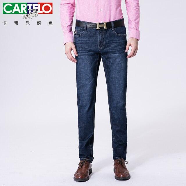 6571e282cec CARTELO brand new men stretch casual straight leg denim jeans male regular  fit cotton business trousers pants hombre QY6621