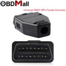 Obd2 16pin adaptador de fiação conector fêmea obdii plugue fêmea carro diagnóstico gabinete autoscanner 16pin interface