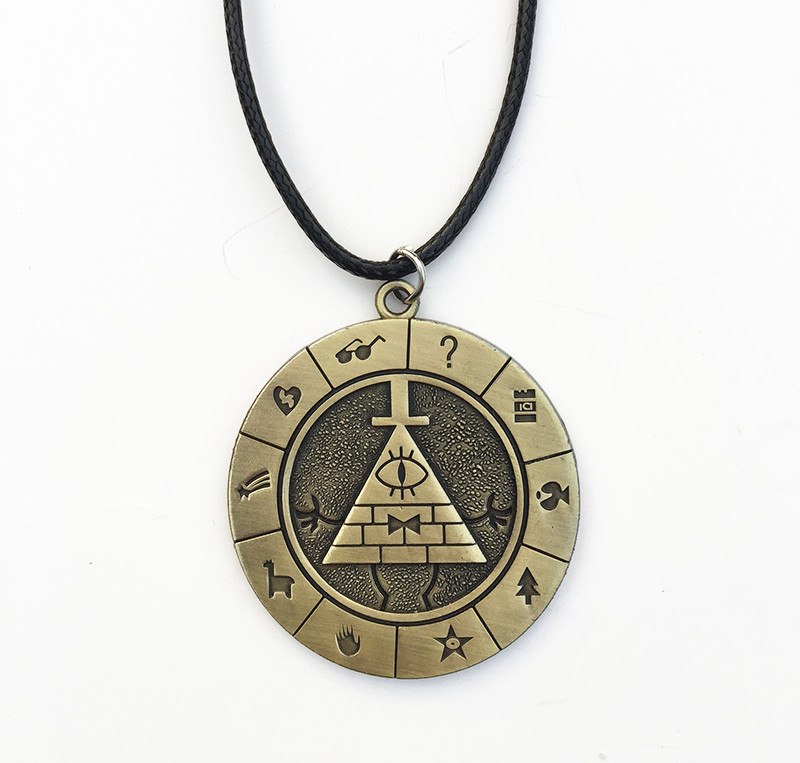 Gravity Falls Bill Cipher Boss Necklace Pendant Cosplay Collection  Gift