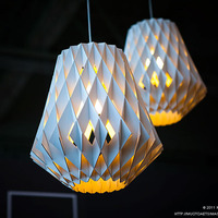 Diamond DIY BAMBOO Wood wooden cage woven Art bar / restaurant Paper Museum Fashion Pendant Light Lamp