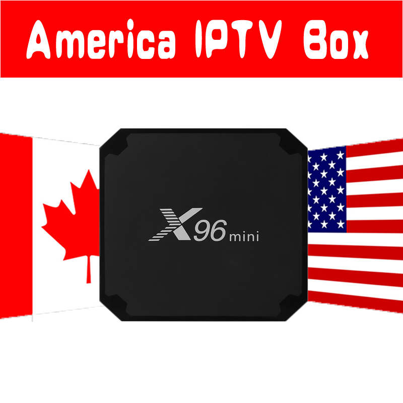 USA Canada IPTV X96mini Android 7.1 TV BOX with 7000+ Lives VOD Sports History Cartoon Europe USA Latin America IPTV Set Top Box conditional cash transfers in latin america