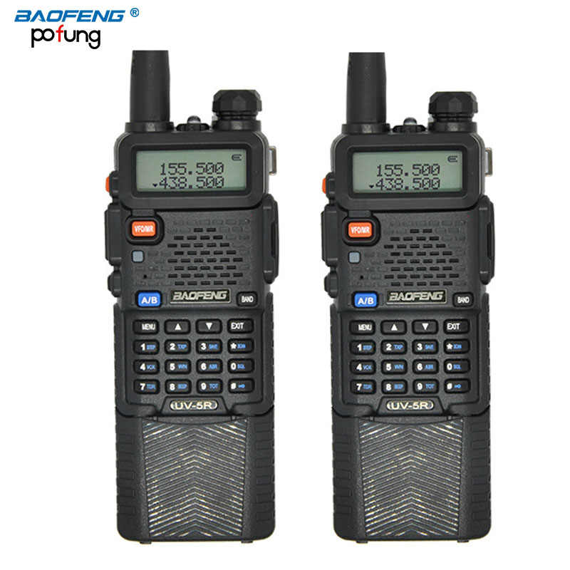 2PCS BaoFeng UV-5R Walkie Talkie 3800mAh battery Professional Dual Band UV5R Portable two way radio long-range wireless CB radio