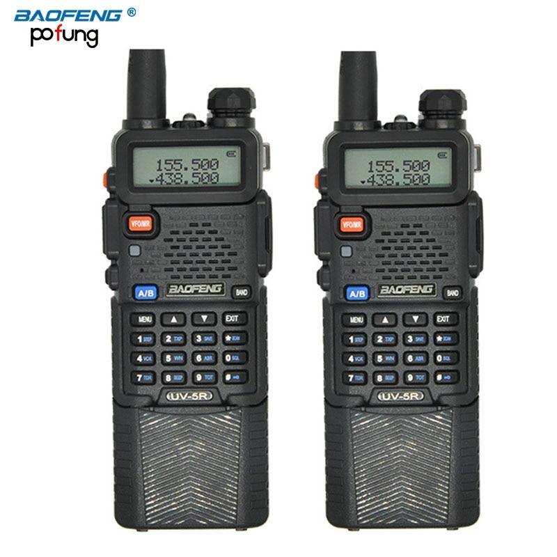 imágenes para 2 unids baofeng uv-5r walkie talkie 3800 mah batería profesional dual band uv5r portátil de dos vías de radio de largo alcance inalámbrico de radio cb