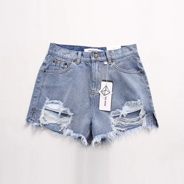 3C47-E001 אופנה Fengpo חור צד סדק מכנסיים קצרים 0515