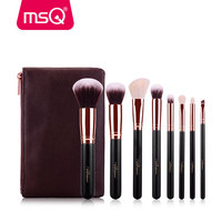 MSQ 8pcs Makeup Brushes Set Rose Gold Make Up Brushes Soft Animal Or Synthetic Hair For