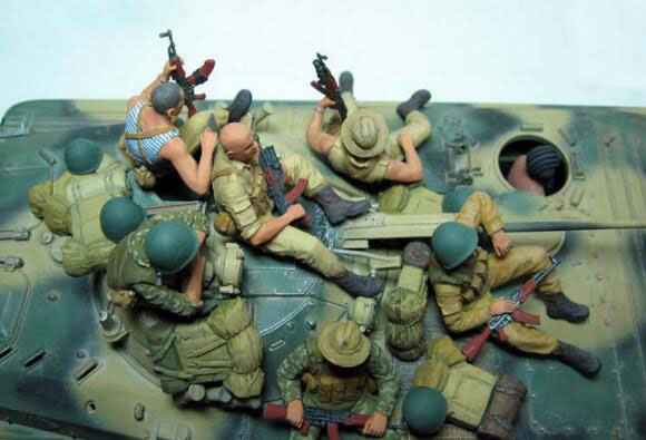 1/35 Hars Kits Sovjet Leger De negende Bedrijf in Afghanistan (geen inclusief tank)-in Modelbouwen Kits van Speelgoed & Hobbies op  Groep 2