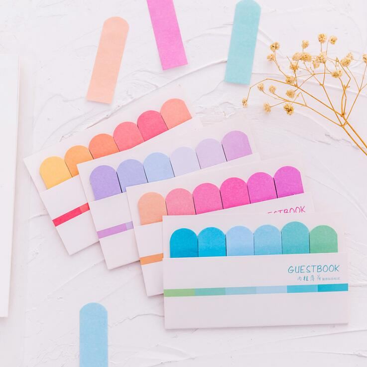 Colorful Guestbook Gradient Color Memo Pad N Times Sticky Notes Escolar Papelaria School Supply Bookmark Label