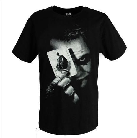 Batman The Dark Knight Joker Print Cotton T Shirts O-Neck Men Tee Shirts T-Shirt Cosplay Costume
