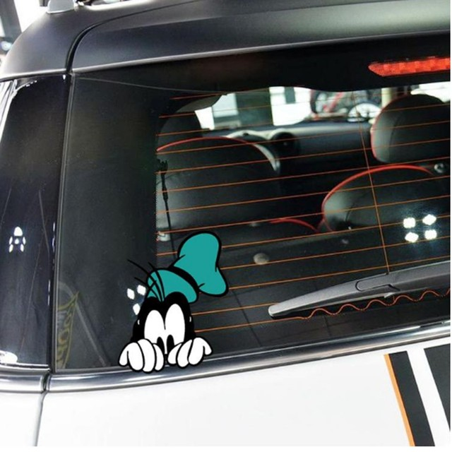 10 x lovely goofy peering car body stickers car window decal for toyota mazda volkswagen ford