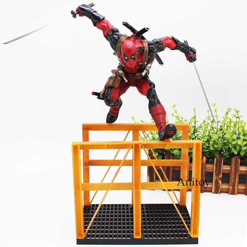 Crazy Toys Deadpool 2 Hurdling Ver. 1/6th Scale Statue Action Figure Collectible Model Toy 40.5cm 1000toys toa heavy industries synthetic human 1 6 scale action figure collectible model toy brinquedos 28cm