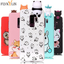 Note 9 Phone Cases on for Coque Samsung Galaxy S9 Plus Case Soft 3D DIY Panda Doll Case for Samsung S9 S8 Plus S7 Edge Note 8 9