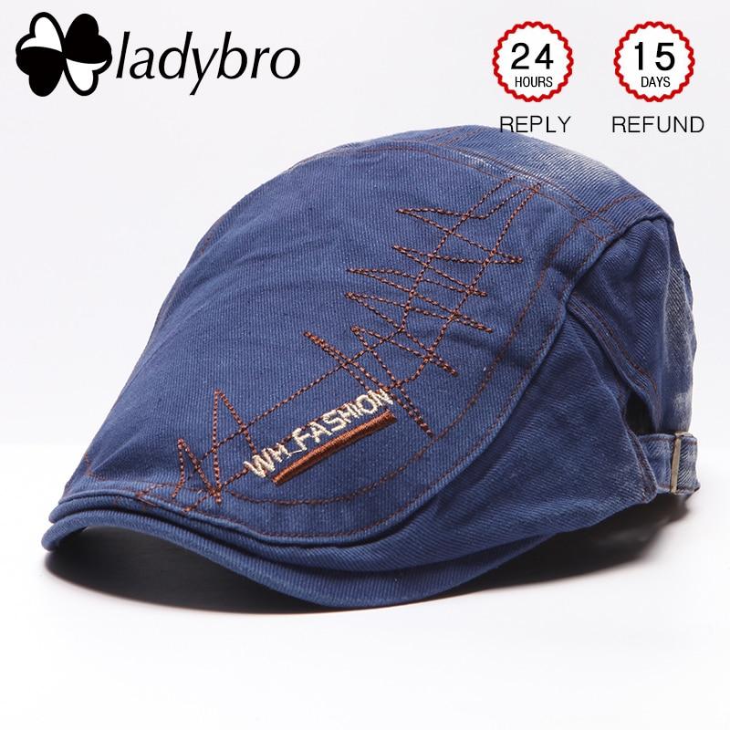Ladybro Mode Heren Baseballcap Schilder Hoed Retro Baret Cap Merk - Kledingaccessoires