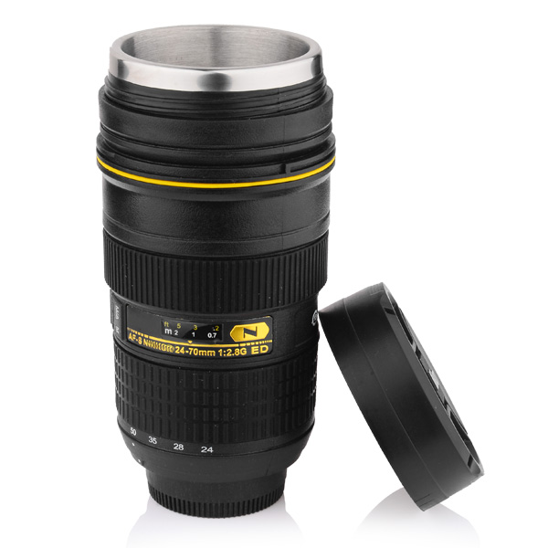 Camera lens cup 300-400ML Coffee mug Stainless Steel Insulated Tumbler  (Modeling Nikon AF