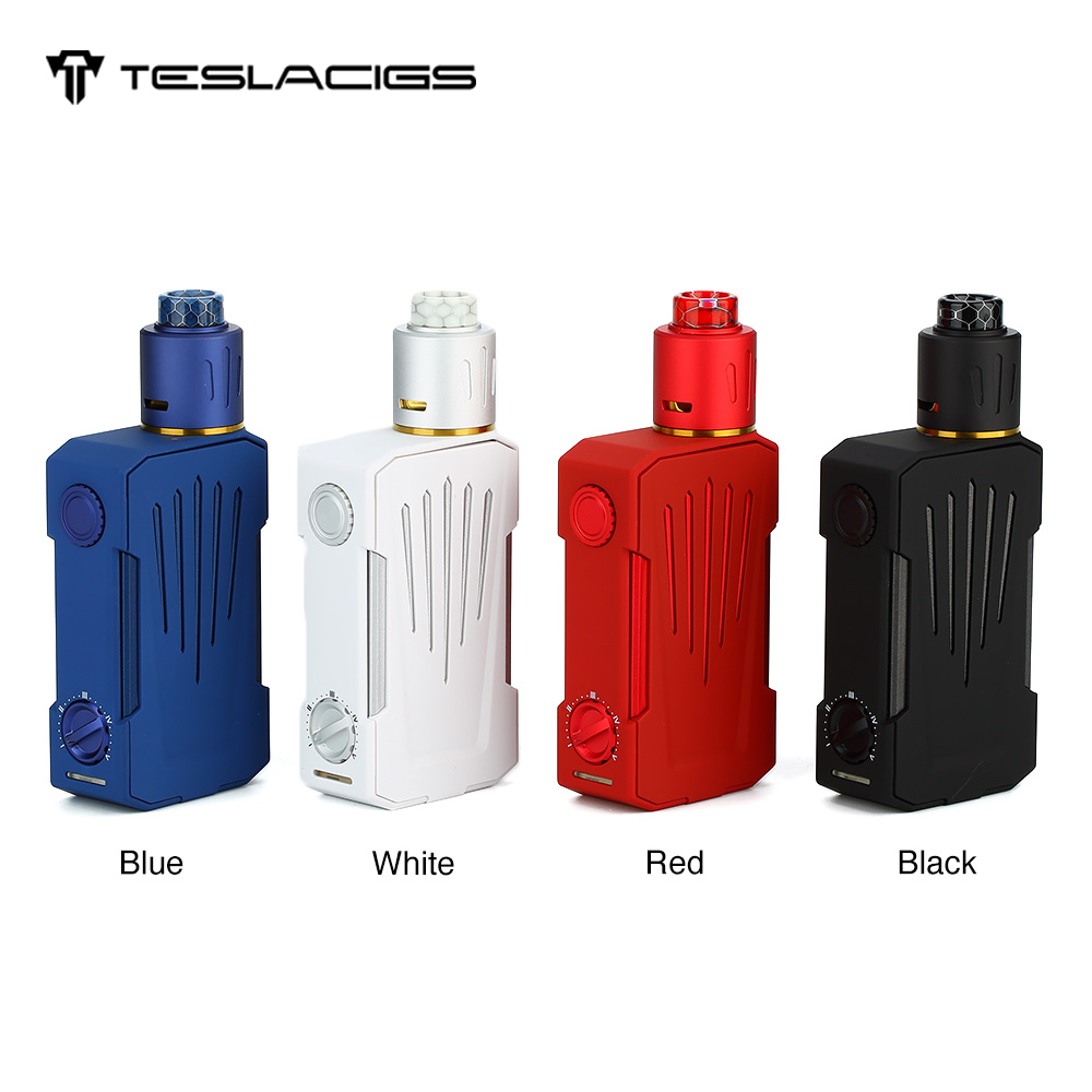 Kit d'origine Tesla Invader 4X VV avec 5 niveaux de tension Variable et pont de construction à bobine unique 25mm RDA Vape VS Tesla WYE TC boîte Mod