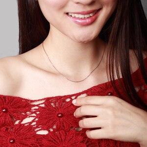 Image 5 - Prawdziwy 18 karatowy złoty łańcuszek naszyjnik 18 cali au750 naszyjnik dla kobiet, różany złoty biały złoty żółty złoty łańcuszek naszyjnik biżuteria prezent