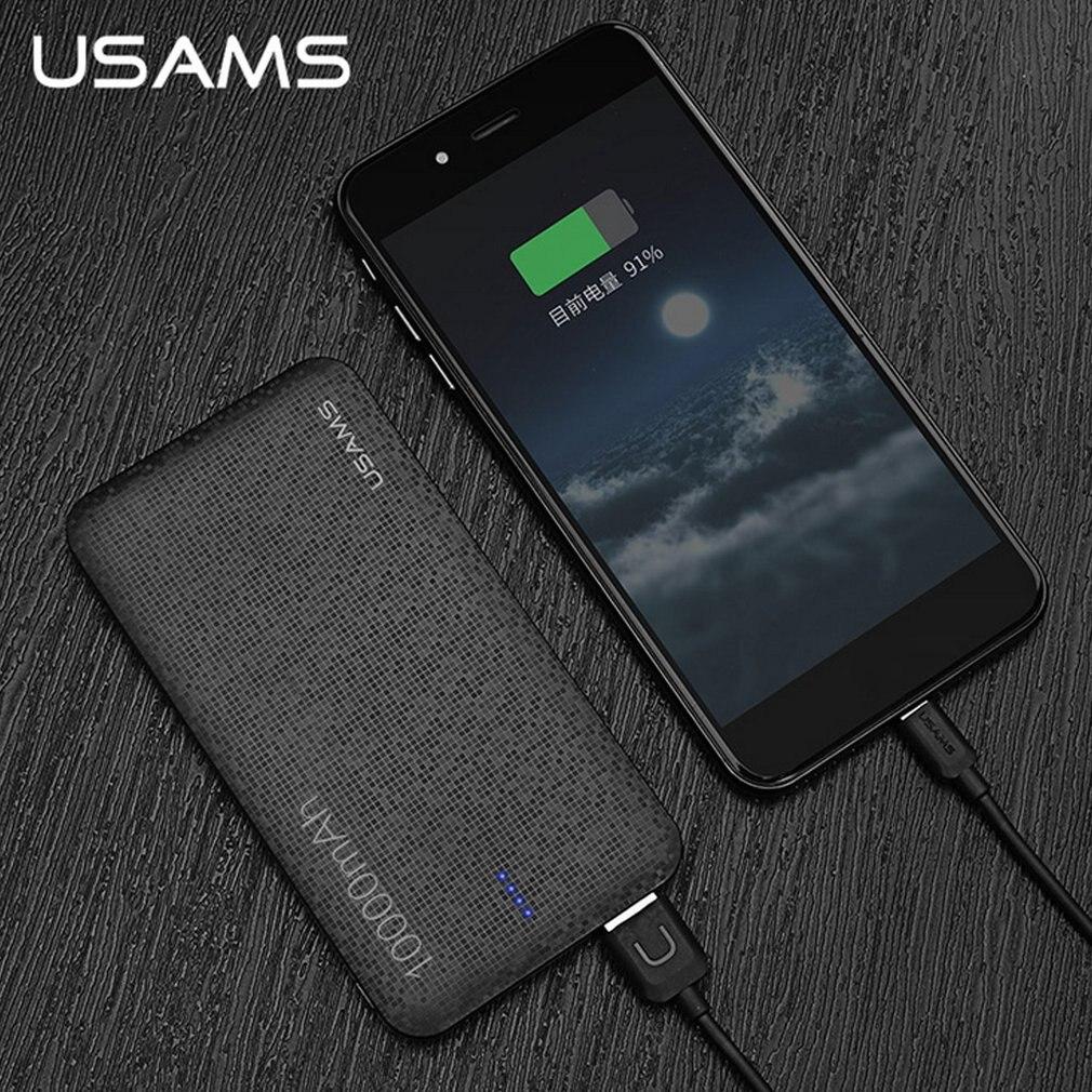 Цена за USAMS Baterías portátiles 10000 мАч Портативный Зарядное устройство Комплекты внешних аккумуляторов мобильного телефона Мощность банк Зарядное устройство Питание для смартфонов
