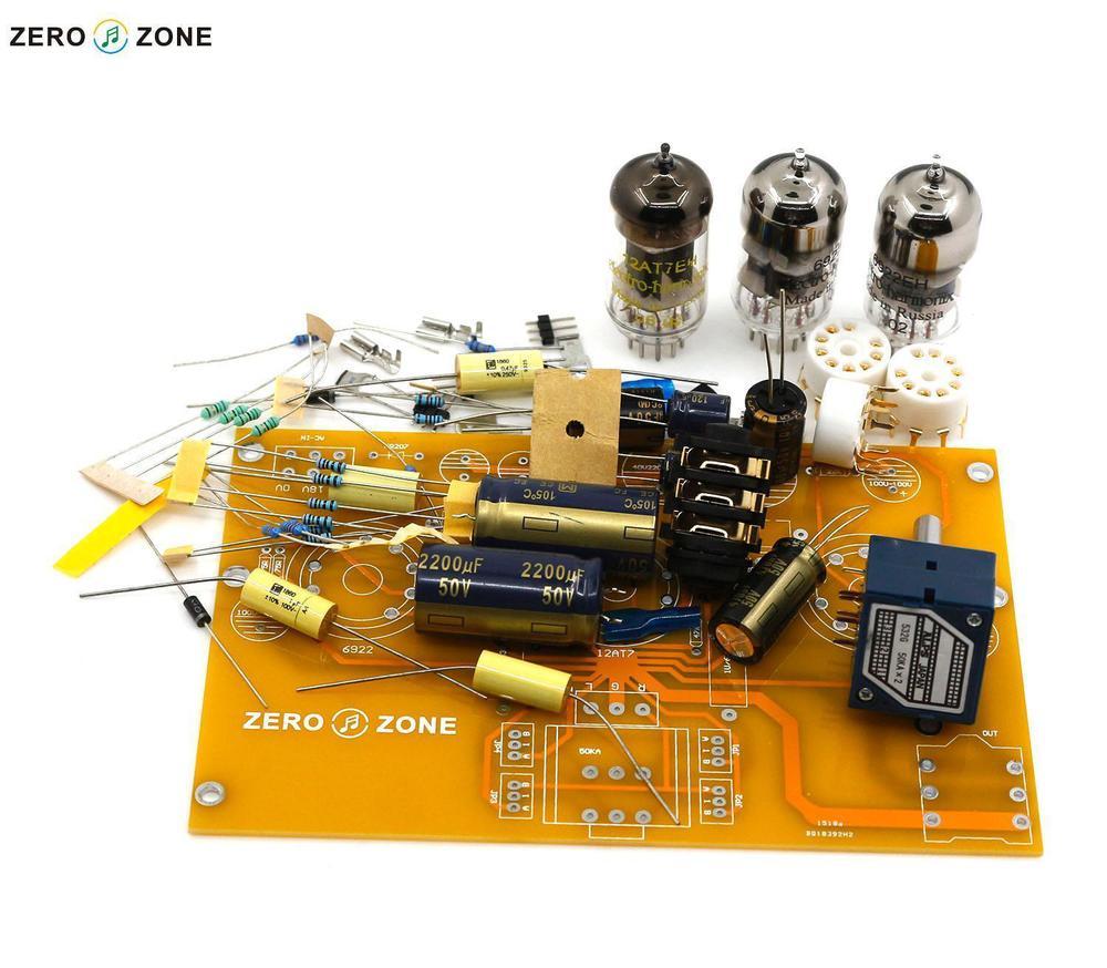 GZLOZONE TU1-EMP V2 Tube Headphone Amplifier Kit 2X 6922 + 1X 12AT7 gzlozone finished classic hd 8 a1 pro headphone amplifier