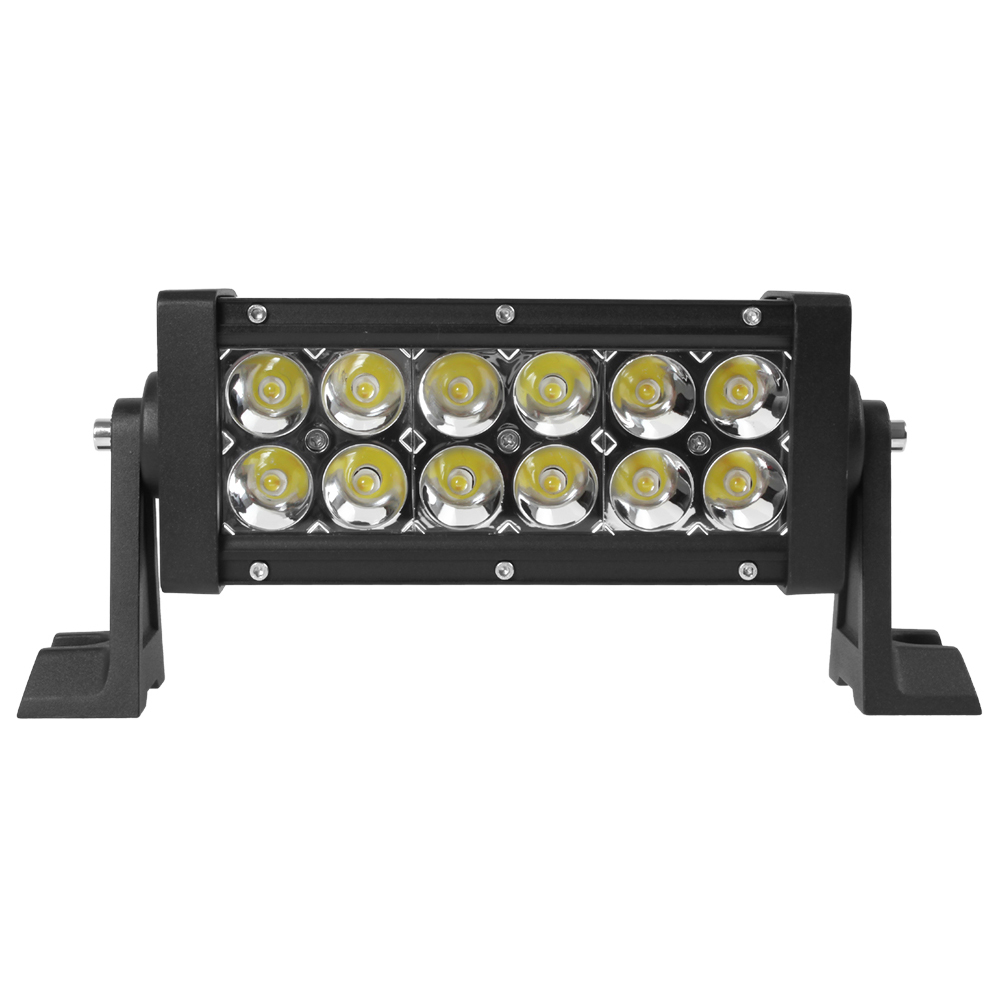 High quality 36W 7.5inch double row LED light bar car styling spot flood Off Road for Car 4WD Truck Tractor Boat Trailer 4x4 2pcs lot red led light 25 31mm spst 6pin on off g128 boat rocker switch 16a 250v 20a 125v car dash dashboard truck rv atv home