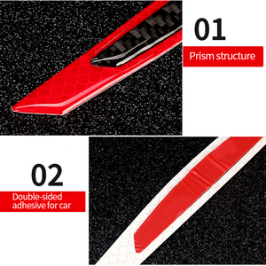 Image 4 - Car  5D Carbon Fiber Sticker Super reflective Stickers Decals Auto Reflective Strip Warning Car Styling Automobiles Accessories