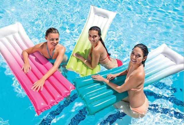 Summer Fun Holiday Play Entertainment Intex 59721 Grant Color Pvc Inflatable Floating Beach Mat 183cm Air