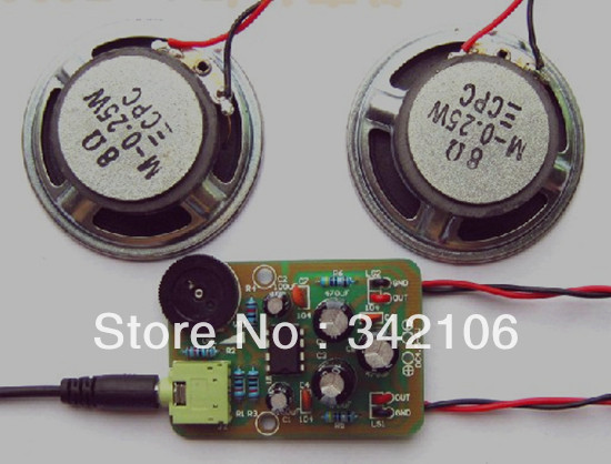 Free Shipping!!! Electronic production suite / amplifier kit / TDA2822M / Electronics DIY / AMP-1