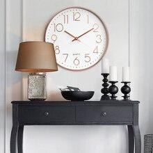 227b90f72758 Reloj Digital de oro rosa cuarzo reloj de moda colgante Reloj de pared  silencioso para oficina Envío Directo 12 pulgadas Hotel