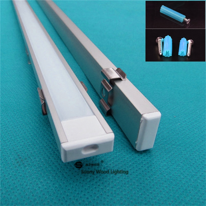 5 30pcs lot 40inch 1m led bar light housing led aluminium profile matte clear cover alu