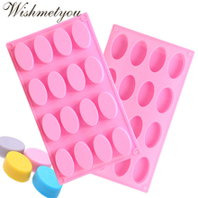 WISHMETYOU Oval Soap Mold Silicone Chocolate Molds Cake Decorating Tools Candy Ice Cubes Baking Diy Crafts 3D Making
