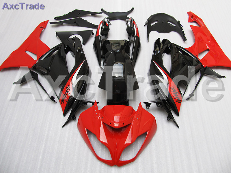 High Quality ABS Plastic For Kawasaki Ninja ZX6R 636 ZX-6R 2009 2010 2011 2012 09 10 11 12  Moto Custom Made Motorcycle Fairing plastic fairings for kawasaki zx6r 2011 body kits 636 zx 6r 2010 2009 2012 white black bodywork zx6r 09 10