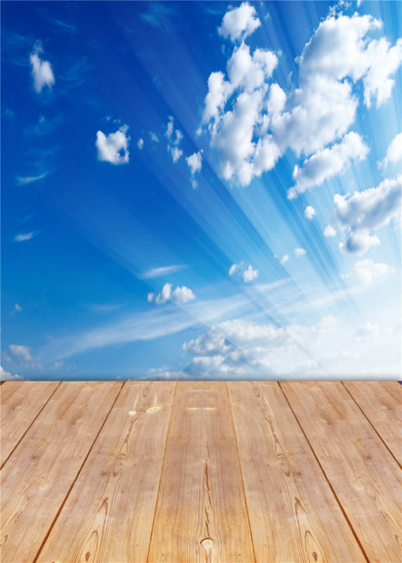 Blue Sky Photo Studio Cloud Backdrops for Baby Wooden Floor Photography Background Vinyl 5x7ft or 3x5ft JieQX305 ocean photo studio props sky background vinyl cloud photography backdrops wooden floor 5x7ft or 3x5ft jieqx297
