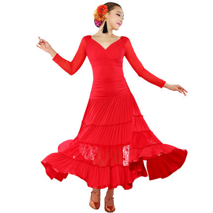 2015 Sale Flamenco Dresses Ballroom Dance Costumes Women Dress Beyonce Costume Waltz - Ouyilu Fashion Manufactory store