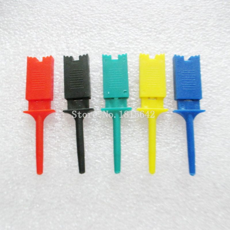 10PCS/LOT Test Hooks Clips for Logic Analyzers Logic Test Clip 5 Colors: Red Black Yellow Green Blue