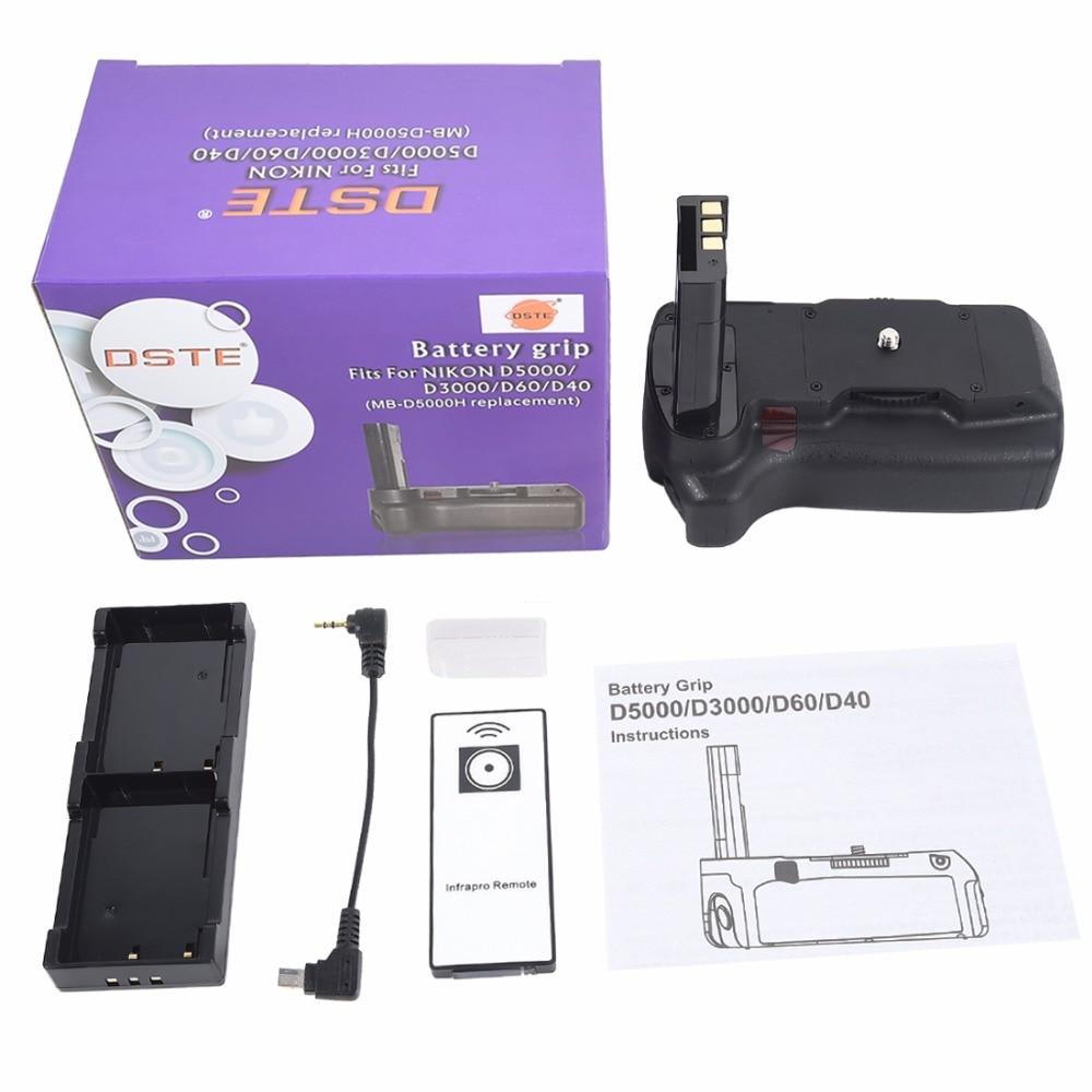 DSTE Multi-Puissance Vertical Batterie Grip + Télécommande pour Nikon D40 D40X D60 D5000 D3000 DSLR Caméra