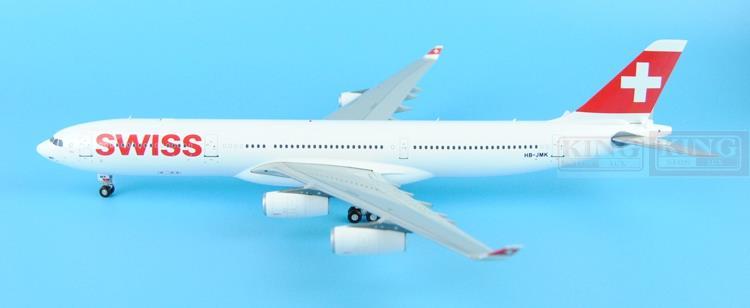 GeminiJets Swiss aviation HB-JMK G2SWR382 1:200 A340-300 commercial jetliners plane model hobby