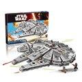 Bela 10467 Star Wars Halcón Milenario ladrillos de construcción bloques Juguetes para niños Juego Arma Compatible con Lepin 05007 75105