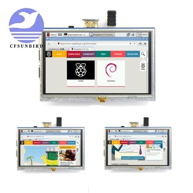 ラズベリーパイ 4 パイ TFT 5 インチ抵抗膜式タッチスクリーン 5.0 インチ液晶シールドモジュールラズベリーパイ用の hdmi インターフェイス 3 A +/B +/2B