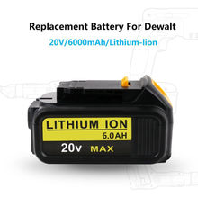 1pc 20V 6000mah Battery for Dewalt DCB181 Rechargeable Power Tools Li-ion Battery Replacement DCB182 DCB204 DCB101 DCB201 DCF885 high quality 20v 4000mah power tools batteries for dewalt dcb181 dcb182 dcd780 dcd785 dcd795 charger usb power source