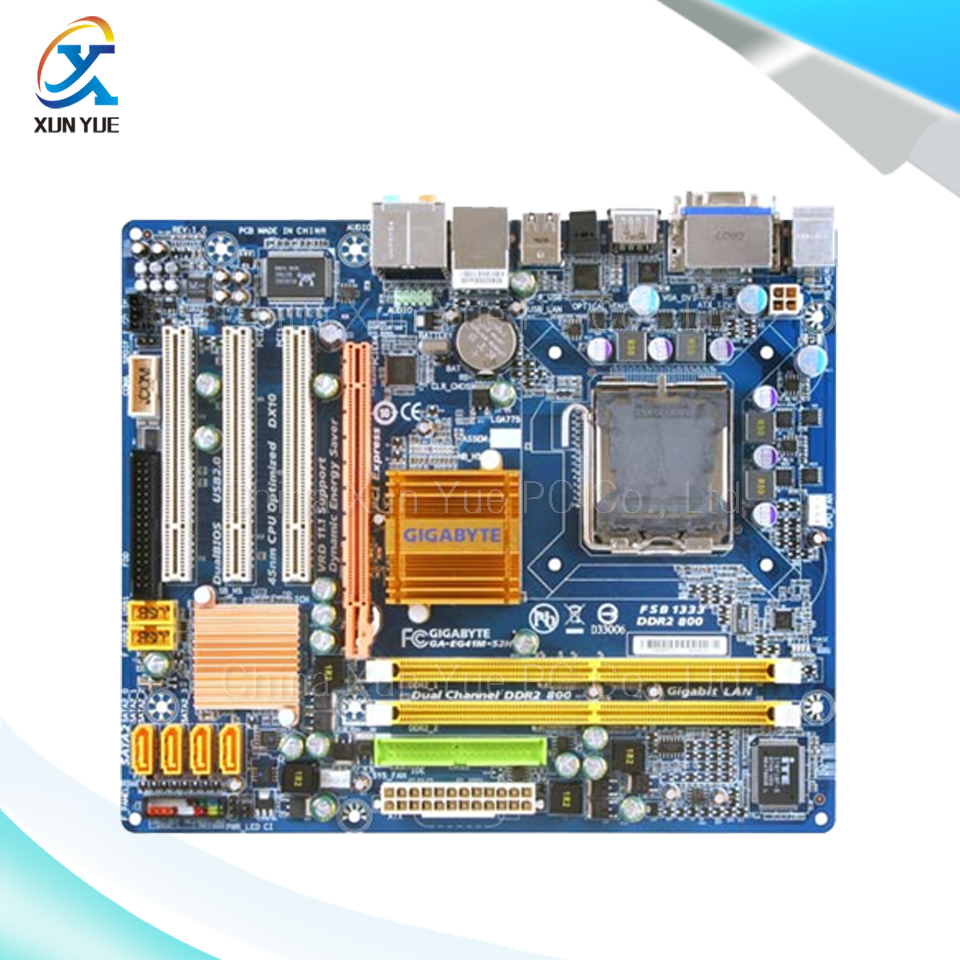 For Gigabyte GA-EG41M-S2H Original Used Desktop Motherboard EG41M-S2H For Intel G41 LGA 775 For DDR2  SATA2 USB2.0 Micro-ATX цена
