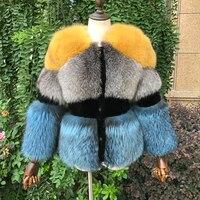2018 Новое натуральное серебряное пальто с лисьим мехом для женщин зимнее натуральное овечье режа полное Пелт толстое теплое пальто Роскошна