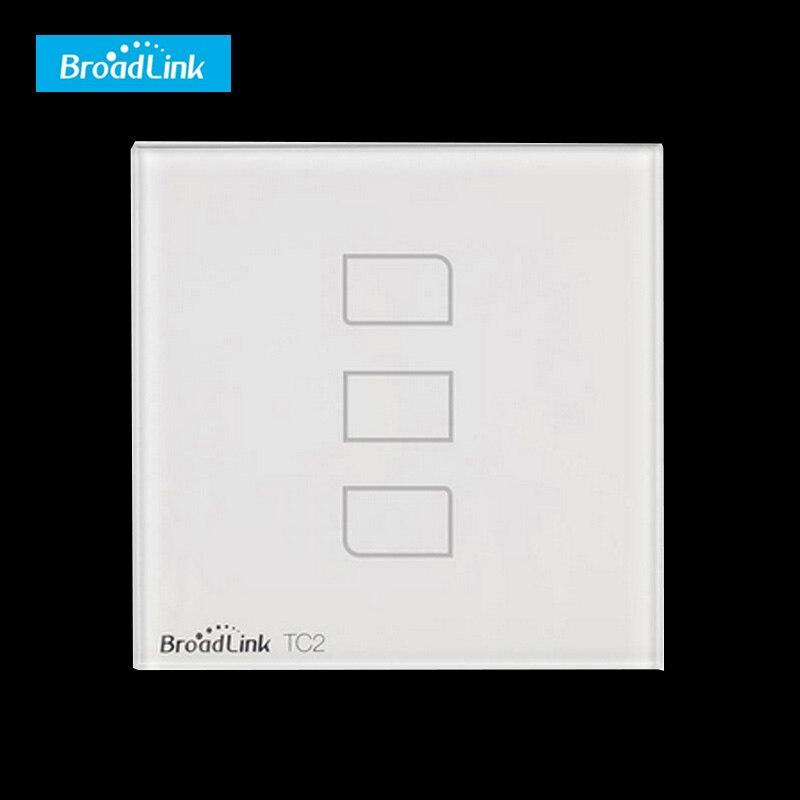 Tc2 3 gang ue reino unido estándar de pared wifi broadlink interruptor interrupt