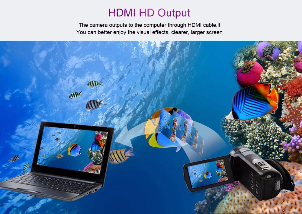 Ordro Camcorder HDV-Z18 Plus 1080P FHD Digital Video Camera Recording with 12X Teleconverter Remote Control HDMI Output 6
